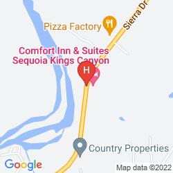 Karte COMFORT INN & SUITES SEQUOIA KINGS CANYON