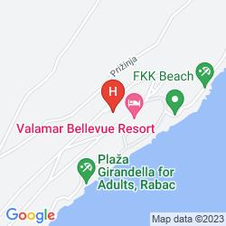 Karte VALAMAR BELLEVUE HOTEL & RESIDENCE