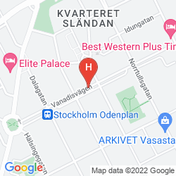 Karte BEST WESTERN PLUS TIME HOTEL - STOCKHOLM