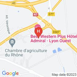 Karte QUALYS HOTEL LYON NORD