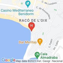 Karte APARTAMENTOS DON MIGUEL I