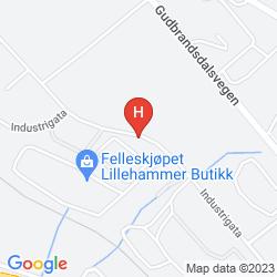 Karte SCANDIC VICTORIA LILLEHAMMER