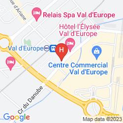 Karte APARTHOTEL ADAGIO MARNE LA VALLÉE VAL D'EUROPE