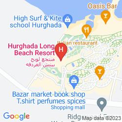 Karte HILTON HURGHADA LONG BEACH RESORT