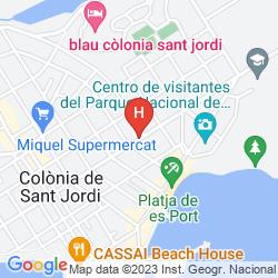 Karte APARTHOTEL ISLA DE CABRERA