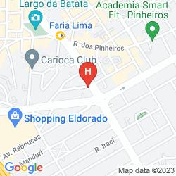 Karte HOWARD JOHNSON FARIA LIMA
