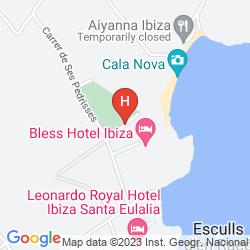 Karte FIESTA HOTEL CALA NOVA