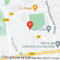 Karte VILLENEUVE LA GARENNE
