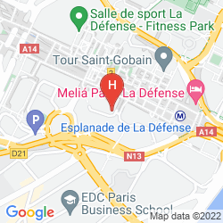Karte MGALLERY NEST PARIS LA DÉFENSE