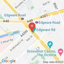Karte HILTON LONDON METROPOLE