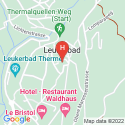 Karte THERMALHOTELS UND WALLISER ALPENTHERME & SPA LEUKERBAD