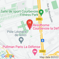 Karte Residhome Appart Hotel Courbevoie la Défense