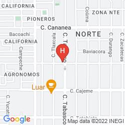 Karte HOTEL EL EJECUTIVO