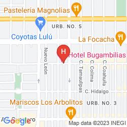 Karte HOTEL BUGAMBILIAS