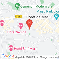Karte GUITART CENTRAL PARK AQUA RESORT