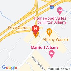 Karte SURESTAY PLUS HOTEL BY BEST WESTERN ALBANY AIRPORT