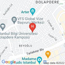 Karte STAR HOTEL TAKSIM