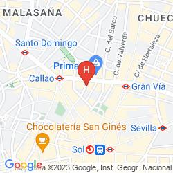 Karte TRYP MADRID CIBELES