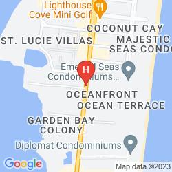 Karte HAMPTON INN COCOA BEACH