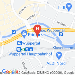 Karte INTERCITYHOTEL WUPPERTAL