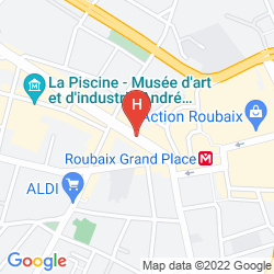 Karte MERCURE LILLE ROUBAIX GRAND HOTEL