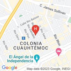 Karte MARQUIS REFORMA HOTEL & SPA CIUDAD DE MEXICO