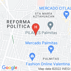 Karte SHERATON MEXICO CITY MARIA ISABEL