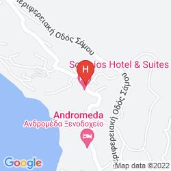 Karte SCORPIOS HOTEL & SUITES