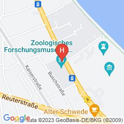 Karte DERAG HOTEL KANZLER