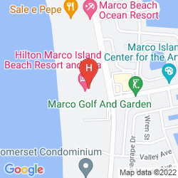 Karte HILTON MARCO ISLAND BEACH RESORT AND SPA