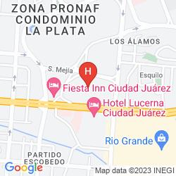 Karte HOLIDAY INN EXPRESS CIUDAD JUAREZ