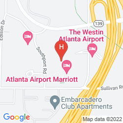 Karte ATLANTA AIRPORT MARRIOTT