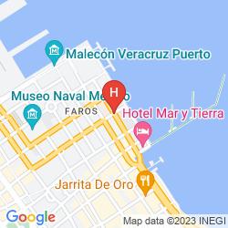 Karte FIESTA INN VERACRUZ MALECON HOTEL