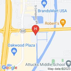 Karte HAMPTON INN & SUITES FORT LAUDERDALE AIRPORT