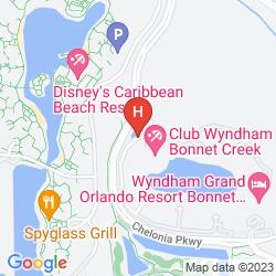 Karte WYNDHAM BONNET CREEK RESORT