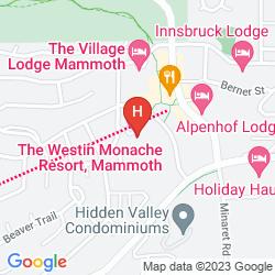 Karte THE WESTIN MONACHE RESORT, MAMMOTH