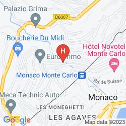 Karte APARTHOTEL ADAGIO MONACO MONTE CRISTO