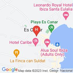 Karte HOSTAL MAR Y HUERTA