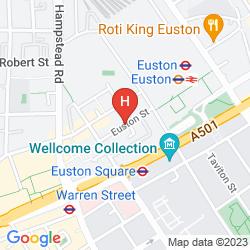 Karte THE WESLEY EUSTON HOTEL & CONFERENCE VENUE