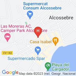 Karte GRAN HOTEL LAS FUENTES