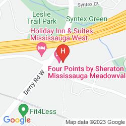 Karte FOUR POINTS BY SHERATON MISSISSAUGA MEADOWVALE