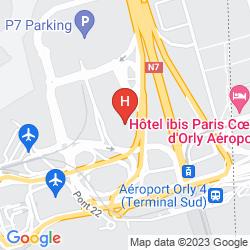 Karte HILTON PARIS ORLY AIRPORT