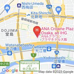 Karte ANA CROWNE PLAZA OSAKA