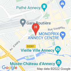 Karte BEST WESTERN PLUS HOTEL CARLTON ANNECY