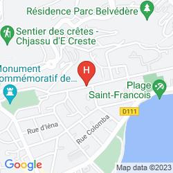 Karte ADONIS AJACCIO - HOTEL ALBION