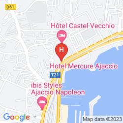 Karte MERCURE AJACCIO