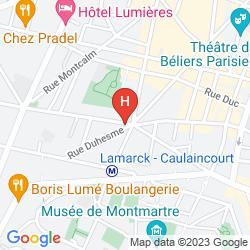 Karte COMFORT HOTEL LAMARCK PARIS 18