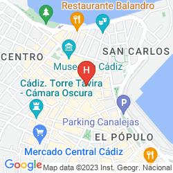 Karte LAS CORTES DE CADIZ