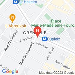 Karte MERCURE PARIS TOUR EIFFEL GRENELLE