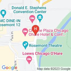 Karte CROWNE PLAZA O'HARE